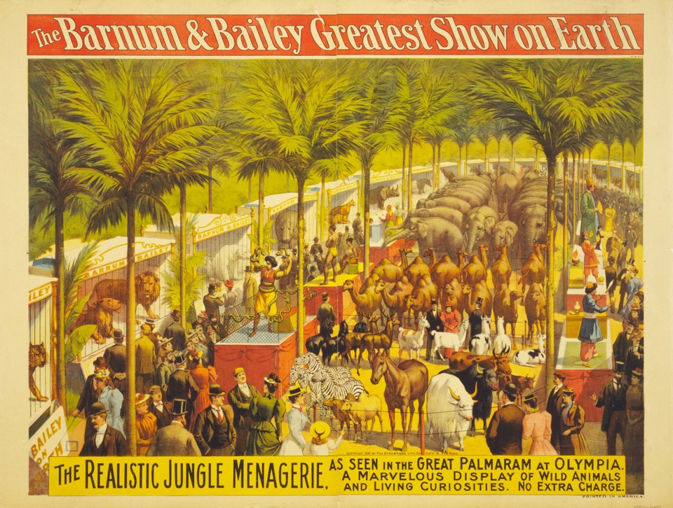 A circus poster from 1897