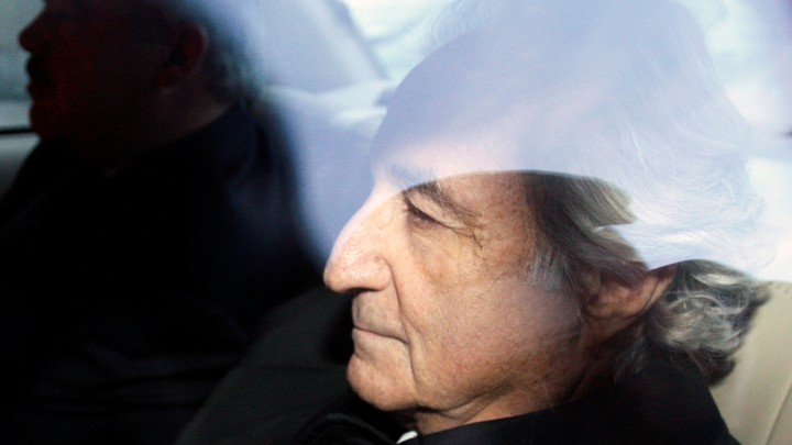 Bernie Madoff leaves a Manhattan court after a bail hearing in 2009.