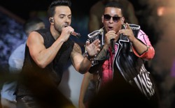 Luis Fonsi and Daddy Yankee perform at the 2017 Latin Billboard Awards.