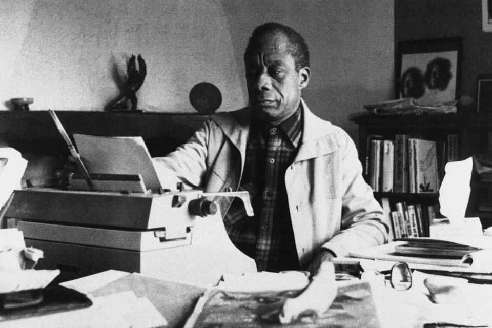 James Baldwin at his home in France, in 1983.