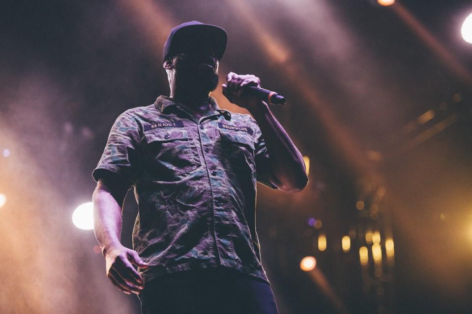 Talib Kweli performs at Moogfest on May 18, 2017