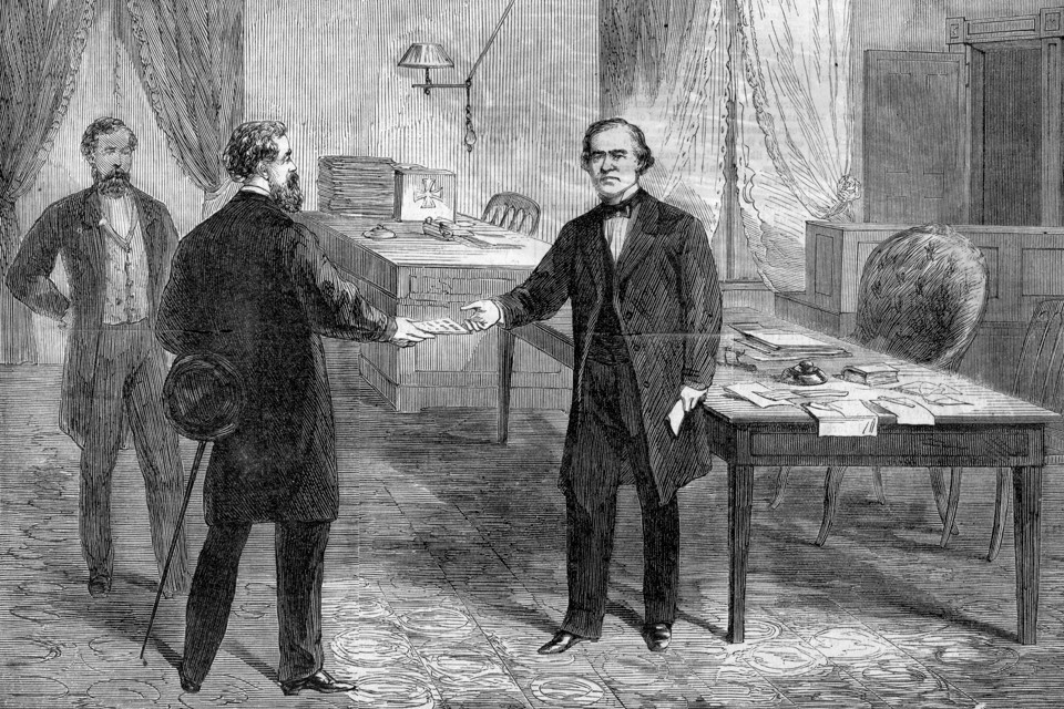 a look at the infamous impeachment of president andrew johnson in 1868 Impeachment fast facts (cnn)here's a look at the process of impeachment president andrew johnson in 1868.