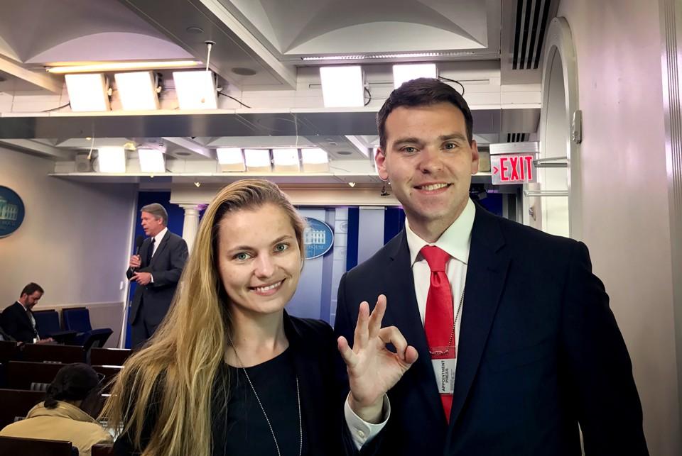 James Posobiec White House Press Room