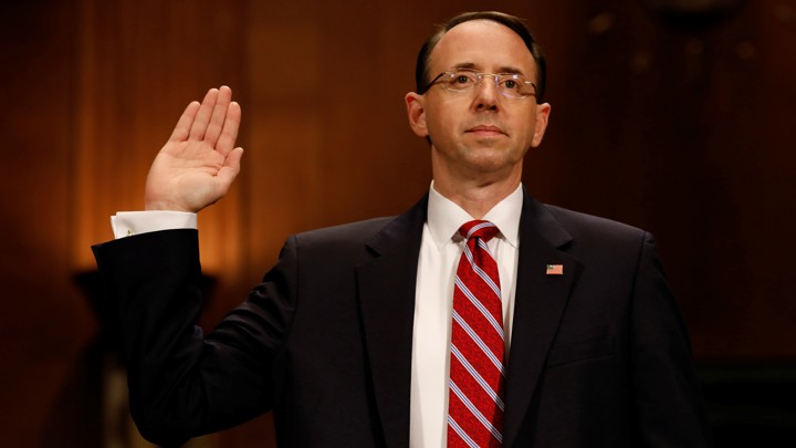 Rod Rosenstein testifies before the Senate Judiciary Committee.