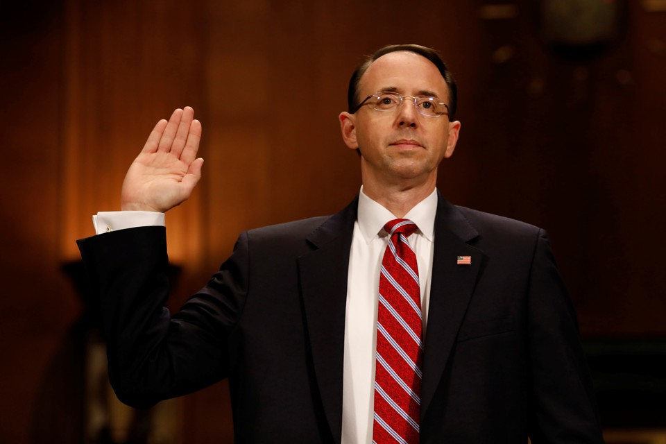 rod rosenstein testifies before the senate judiciary committee