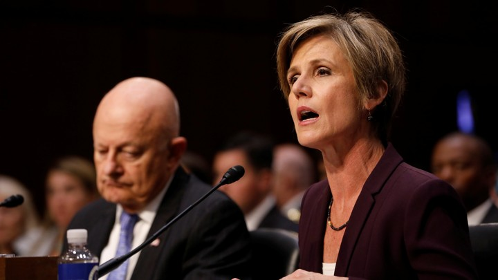 James Clapper and Sally Yates testify before a Senate panel on May 8.