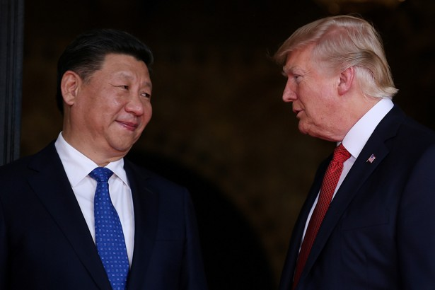 President Trump and Chinese President Xi Jinping at Mar-a-Lagoin Palm Beach, Florida onApril 6, 2017.