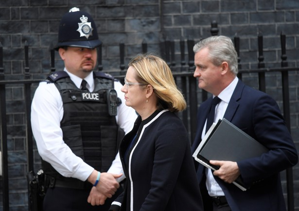 Amber Rudd, the U.K. home secretary, arrives Wednesday at 10 Downing Street