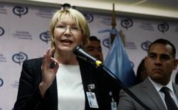 Venezuela's chief prosecutor Luisa Ortega Diaz talks to the media during a news conference in Caracas, Venezuela, on May 24, 2017.