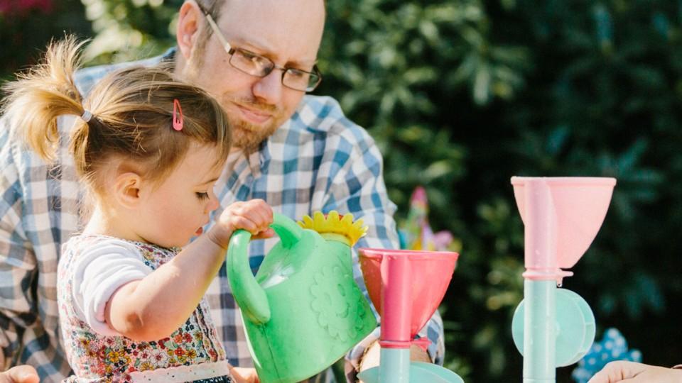 Gillan Drew With His Daughter Izzie And Wife Both Have Autism Ben Mostyn Spectrum