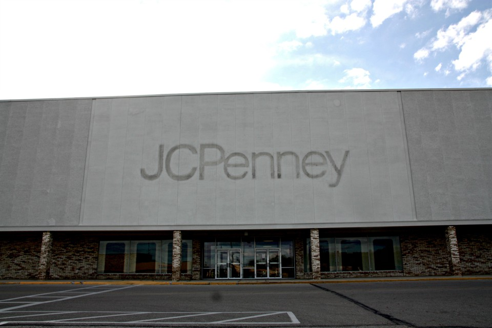 A shuttered JC Penney at the Upper Valley Mall in Springfield, Ohio