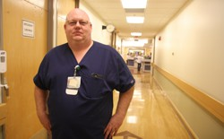 Marshall Wayne Wilburn switched from a job in manufacturing to nursing.