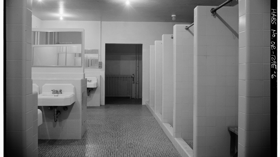 school bathroom. Wikimedia Commons School Bathroom -