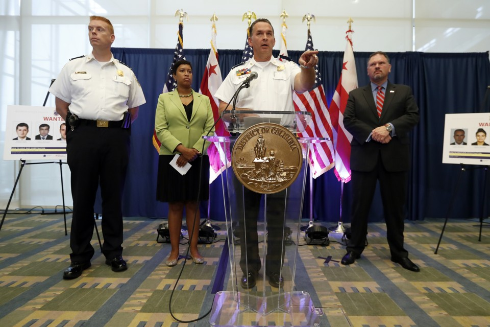 Metropolitan Police Department Chief Peter Newsham speaks during a news conference in Washington on June 15, 2017.