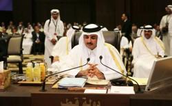 Emir of Qatar Sheikh Tamim Bin Hamad Al Thani attends the Arab League summit on March 29, 2017.