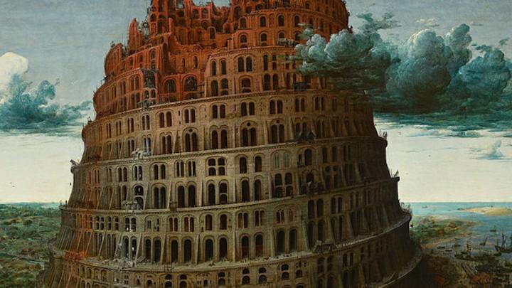 One of Pieter Bruegel the Elder's 1563 oil paintings of the Towel of Babel
