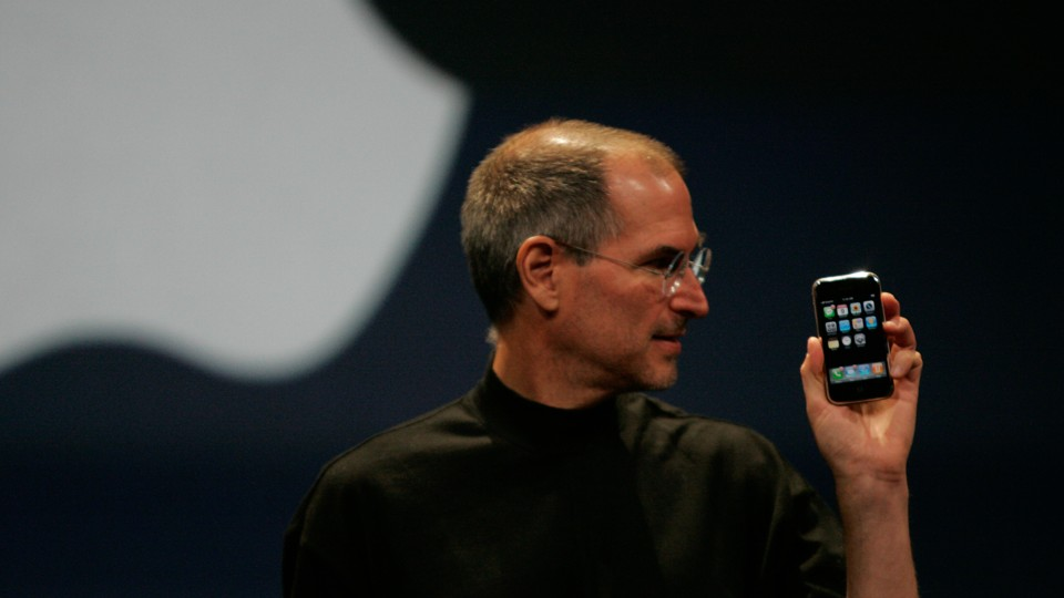 """In 2007, Apple's former CEO, Steve Jobs, unveiled what Reuters referred to at the time as an """"eagerly-anticipated iPod mobile phone with a touch-screen."""""""