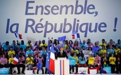 Emmanuel Macron at a rally on May 1, 2017