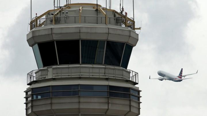 An air-traffic control tower