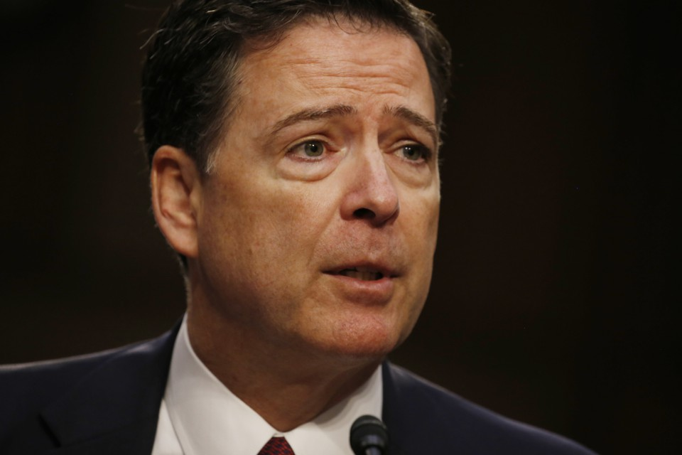 James Comey testifies on Capitol Hill on June 8, 2017.