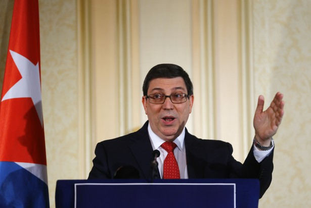 Cuba Foreign Minister Bruno Rodriguez addresses a news conference in Vienna, Austria on June 19, 2017.
