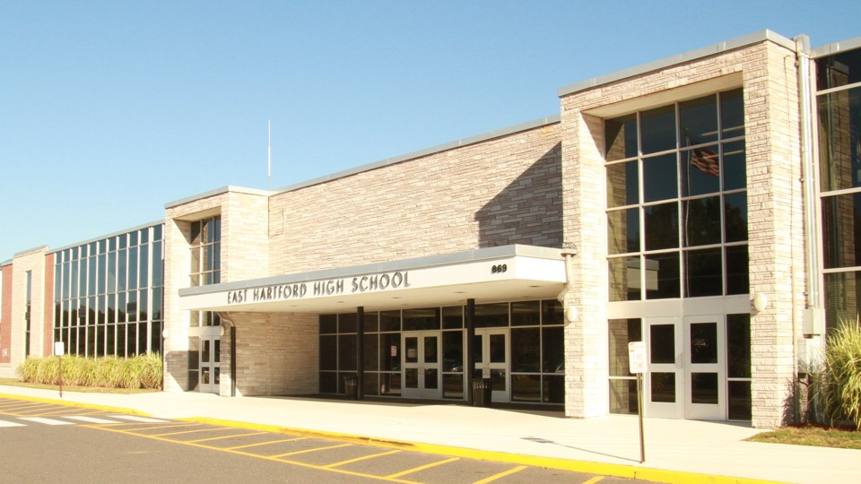 The outside of a high school