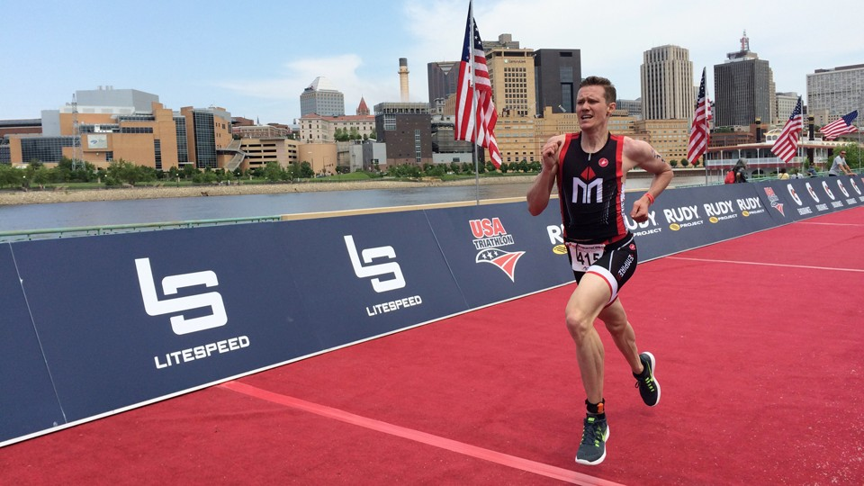 Chris Mosier competes in a race