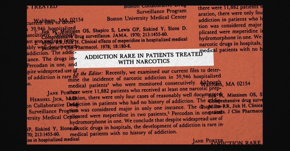 The 1980 NEJM Letter That Fueled the Opioid Crisis