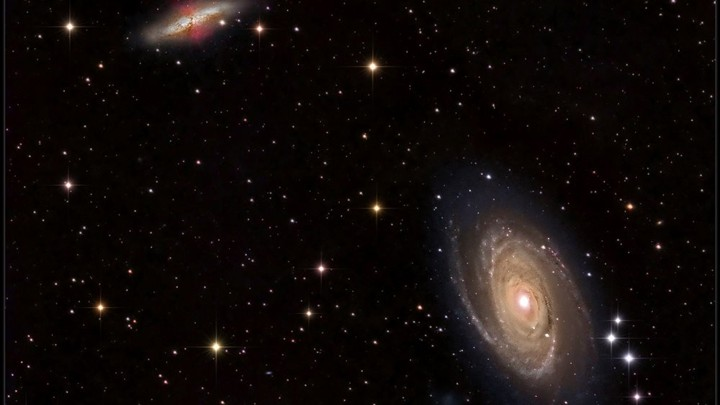 Galaxies M81 and M82 in the constellation Ursa Major