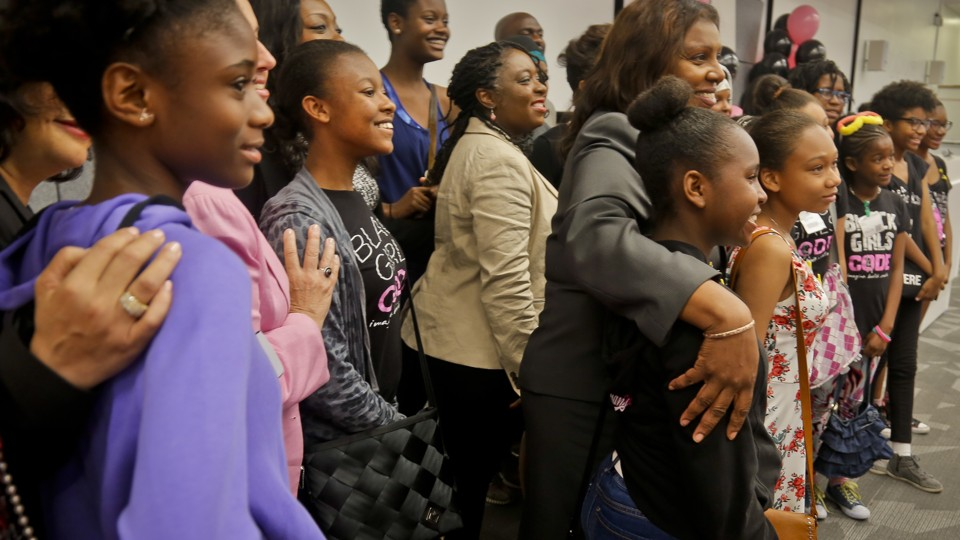 Kimberly Bryant, the founder of Black Girls Code and Kaya Thomas's mentor