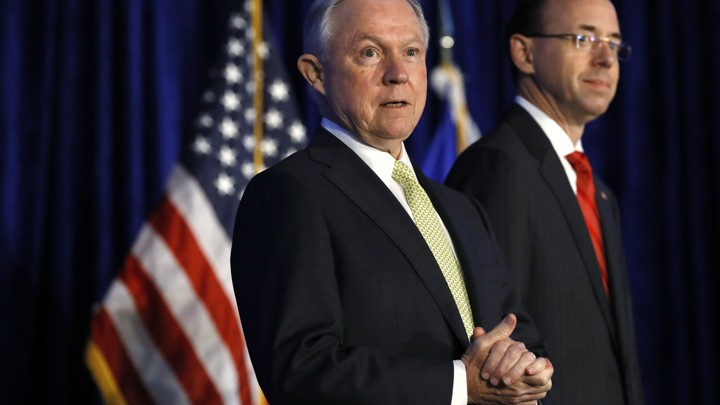 Attorney General Jeff Sessions and his deputy, Rod Rosenstein