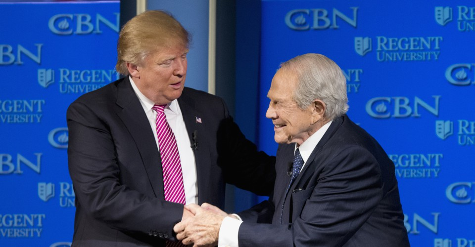 photo image Pat Robertson Gives Trump a Pass on Russia