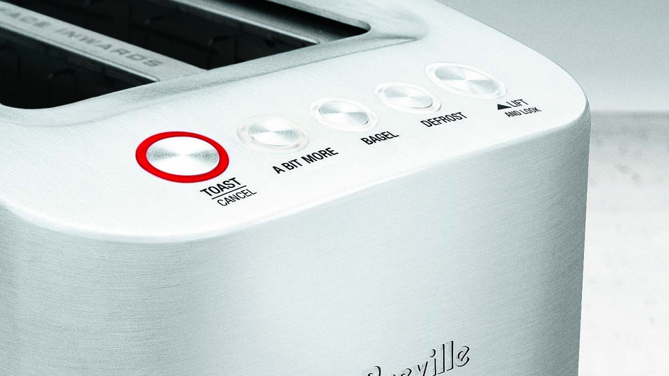 """A Breville toaster with the """"A Bit More"""" button"""
