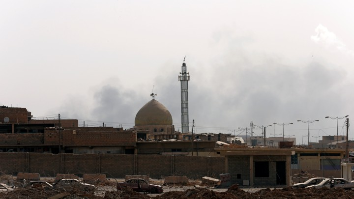 A mosque in the Old City of Mosul