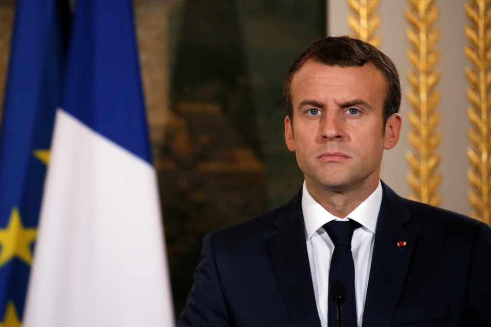 French President Emmanuel Macron at the Élysée Palace in Paris, France on July 6, 2017.