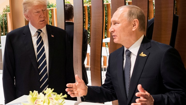 Donald Trump and Vladimir Putin at the G20 summit