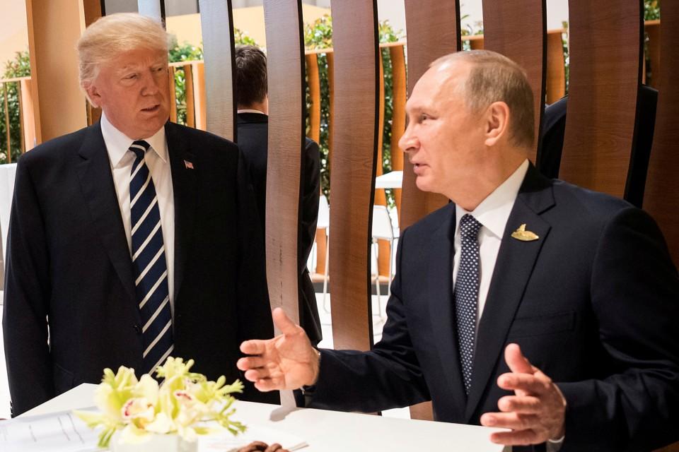 Donald Trump and Vladimir Putin at the G20 summit