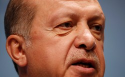 A full-faced portrait of Turkish President Recep Tayyip Erdogan