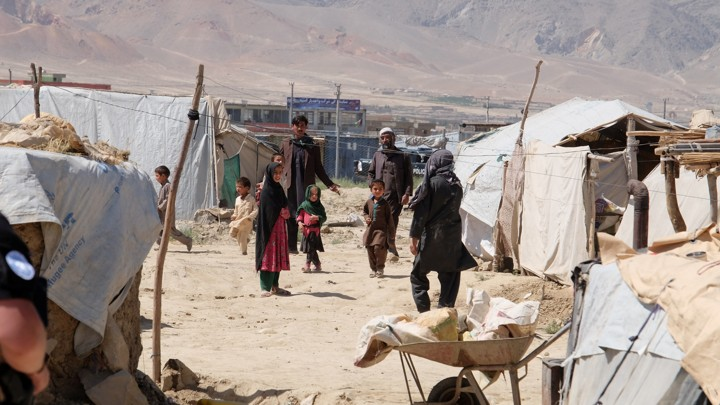 Internally displaced Afghans at a camp outside Kabul on June 14, 2017.