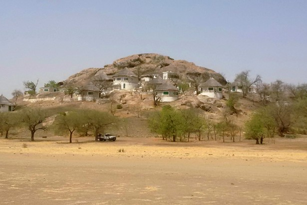 A hill in Waza, Cameroon, as seen on February 17, 2015