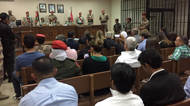 A Jordanian military court reads al-Tawaiha's sentence on July 17, 2017.
