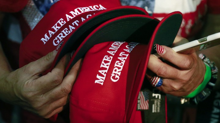 "President Trump's signature ""Make America Great Again"" hats"