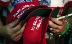 "President Trump's signature ""Make America Great Again"" hats"