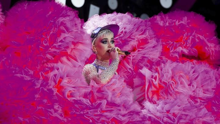 VMAs host Katy Perry performs at Glastonbury 2017
