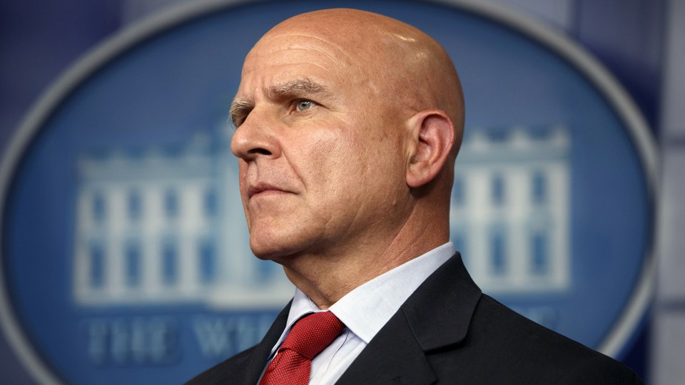National-Security Adviser H.R. McMaster listens during the daily press briefing at the White House.