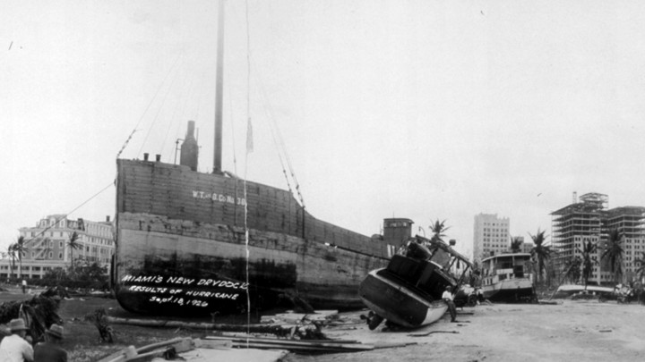 The aftermath of the Great Miami Hurricane of 1926