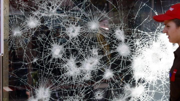 A broken window