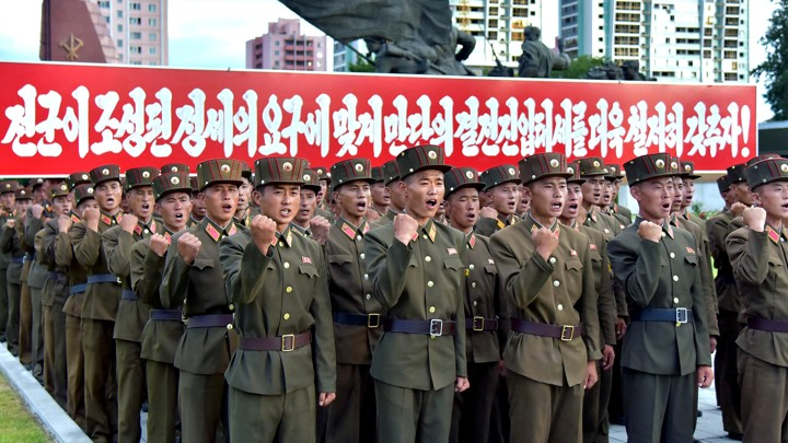 North Korean servicemembers depicted in North Korean state media