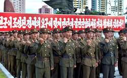 North Korean servicemembers depicted in North Korean state media