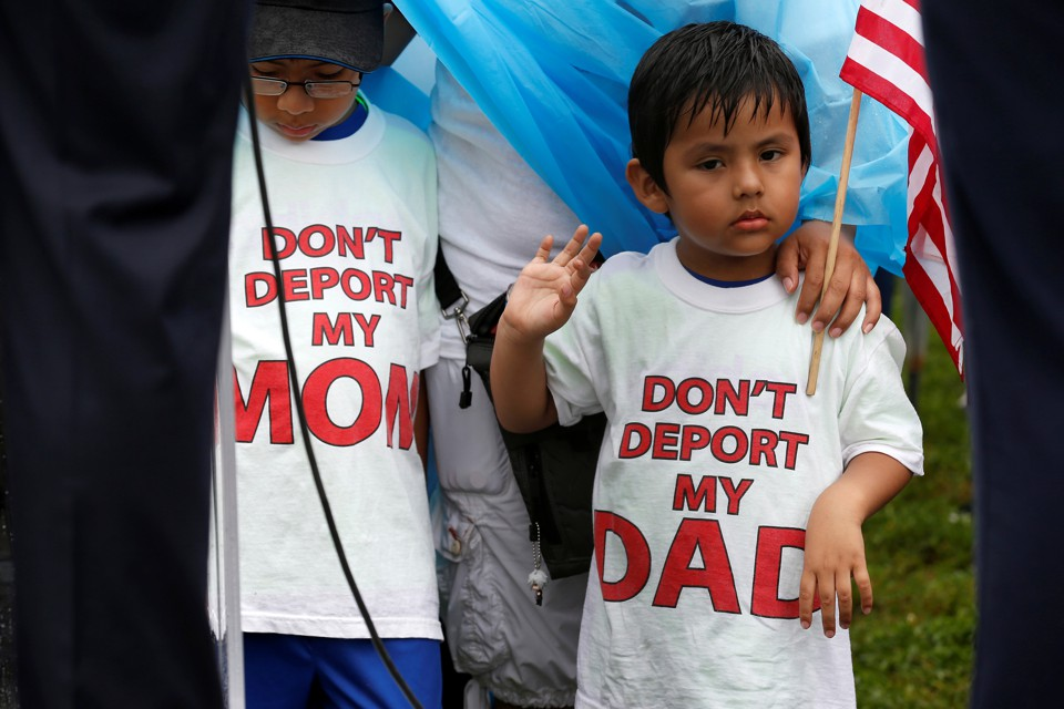 Immigration activists rally in Washington to demand the Trump administration protect the DACA program earlier this month.